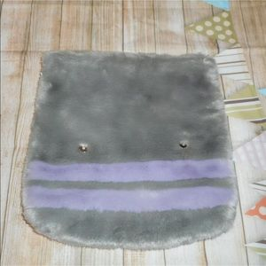 Topshop med purple gray furry clutch bag new